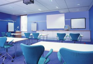 Training room in classroom style